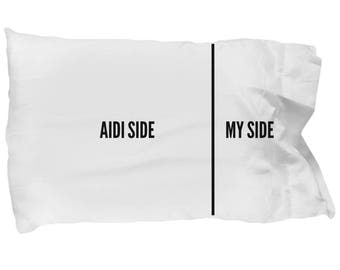 Aidi Pillowcase - Funny Aidi Pillow Case - Aidi Gifts - Aidi Dog Side My Side