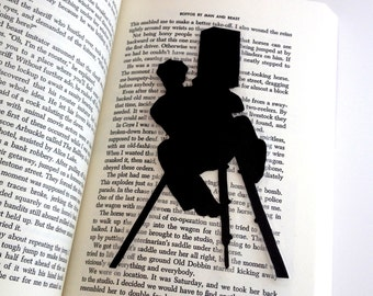 Buster Keaton Bookmark | The Cameraman | Hand-Cut Silhouette