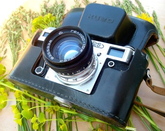 Rare photo camera KIEV Helios - 103 Soviet Union. Original. Electronics retro. Russian antiques. In great condition. Collectible items USSR