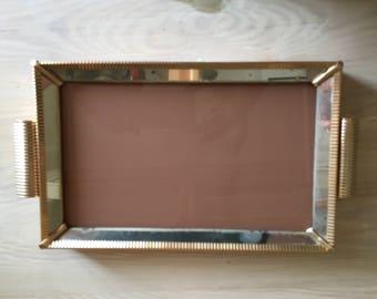 ART DECO glass mirror & COFFEE trays