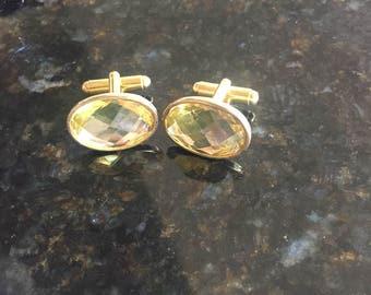 Vintage set of jeweled cuff links