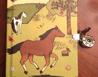 Horse Lock & Key Diary