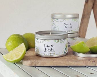 Gin and Tonic Scented Tin Candle