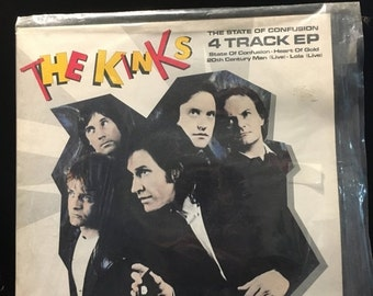 ON SALE Vintage The Kinks State Of Confusion Vinyl Record Lp 1983 Al-9617 Arista Record Excellent Condition