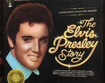 ON SALE Vintage Rare The Elvis Presley Story 5 Record Set