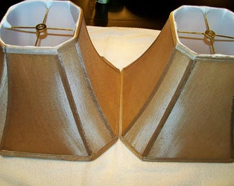 Set of 2 Nice Tannish/Brownish Lamp Shades Like New