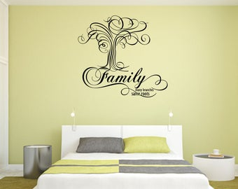 Family Many Branches Same Roots Home and Family Vinyl Wall Quote