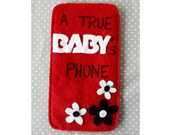 Pouch for smartphone, KPOP accessory for the fans the group B.A.P (TS Entertainment), unique handmade accessory for babies