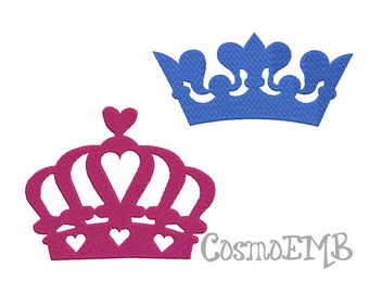Collection 8 Size 2Crown Embroidery design Machine Embroidery - Digital INSTANT DOWNLOAD