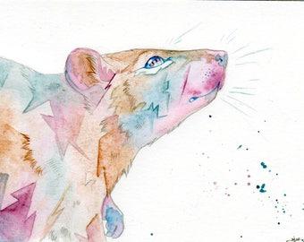 Little Ratty - Original Watercolour