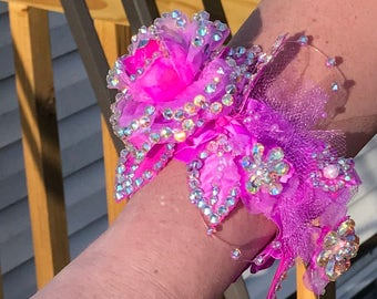 Custom Rhinestone Prom, Wedding, Pageant or Quince Corsage