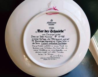 WEIDEN 1986 . bOR dER sCHMIEDE. CHRISTIAN SELTMANN plate