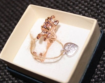 ring rose gold plated bronze/yellow gold