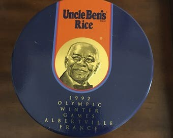 Uncle Ben's Rice 1992 Olympic Winter Games vintage tin