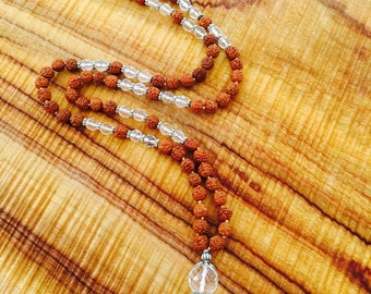 YOGA Mala Beads 'Sadhana' Blessed by 'Vishwaguruji'to help you achieve Union of Pure Consciousness in meditation and mantra. Prayer beads
