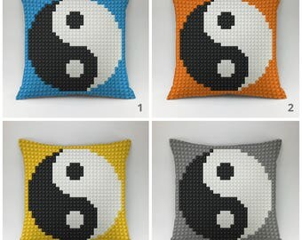 Lego pillow cover Decorative pillow Throw pillow cover Cushions Printed pillow 18x18 20x20 Lego child cover yin yang pillow case