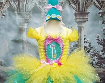 Smidge trolls style tutu dress