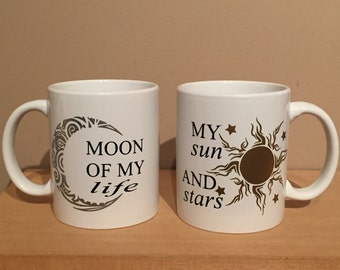 Game of thrones mugs, game of thrones gift, Valentine's Day gift, Valentine's gift, quirky mugs, his and her mugs, his and hers gift, mugs