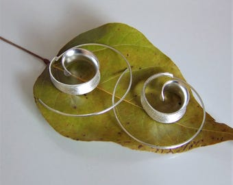 Brushed silver earrings. Brushed Silver Jewellery. Silver Jewellery. Polished Silver earrings. Silver jewelry.