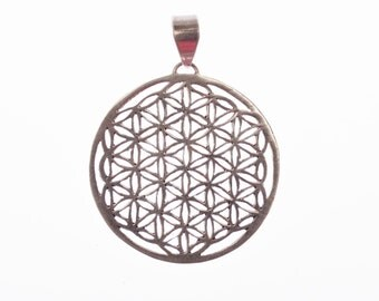 Flower of life made of 925 Silver medium