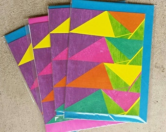 Colourful, geometric handmade card for any occasion!