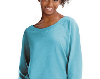 LAT Junior Fit Slouchy Pullover Sweatshirt, available in 7 colors, FLAT Rate Shipping 5.00 or FREE Shipping over 25.00