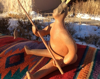 Southwestern Pottery ... micaceous clay figure from New Mexico