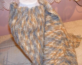 LARGE KNITTED SHAWL