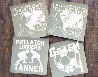 Baseball Decal Etsy - Custom car decals baseball