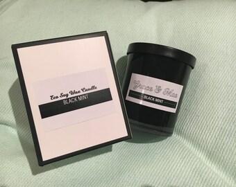 Grace & Mae Small Blacks - Black Wax Soy Jar Candles