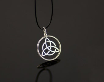 Celtic Triskelion Pendant Free Shipping Handmade Sterling Silver Celtic Jewelry