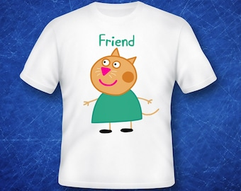 Candy Cat Friend, Peppa Pig iron on transfer, high resolution, digital files only, instant download