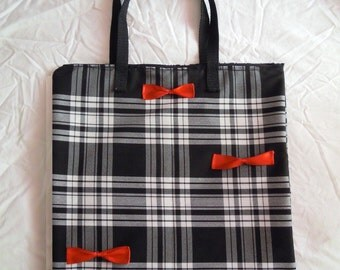 Tote bag / purse Tote black and white tiles