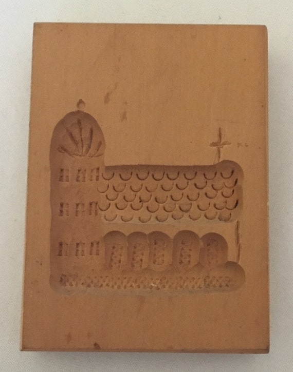Springerle Vintage Hand-Carved Cookie/Paper Mold (East Germany) – Small Cathedral