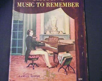 Chopin's Music to Remember Edited by Samuel Spivak 1945 Book of Sheet Music