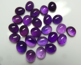 Amethyst Oval Cabochon,Size- 9x11x5 MM, Natural Purple Amethyst, Smooth Cabochon Lot, Amethyst Gemstone, Weight-44 Carat,