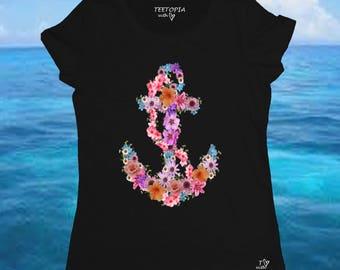 FLOWER ANCHOR - t-shirt donna