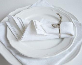 Set of 6 Linen Cotton Napkins 18.5 x 18.5 inch size Wedding Kitchen Table