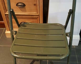 Four french/belgium metal brasserie  chairs.(For Shipping see item description)This item due to weight can only be shipped to Uk ..