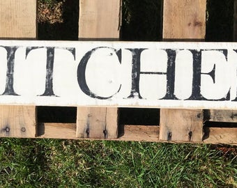 Kitchen sign, reclaimed signs, housewarming gift, large kitchen sign