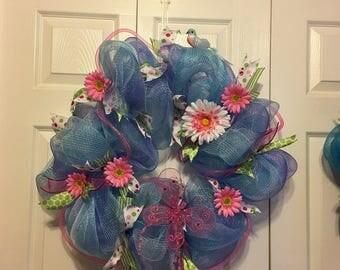 Springtime Deco-Mesh Wreath