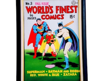 WORLD'S FINEST #3 - August - 1941, Comics Art Paintings, Oil On Canvas, 20 x 30 in