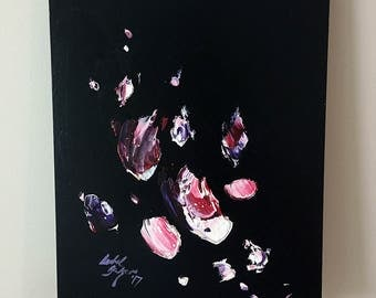 Vampy Smudge - Original Abstract Acrylic Painting on MDF Board