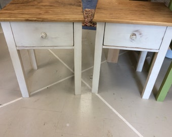 Handcrafted Rustic Pine End Table Night Stand