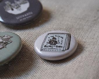 "Beedle the Bard / Felix Felicis / Flying Key - Harry Potter - 1"" pinback buttons"