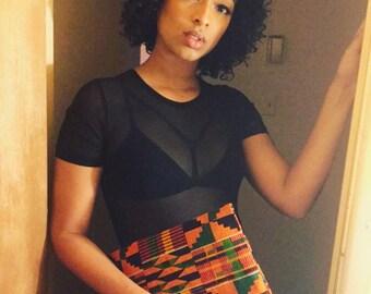 Clutch bag African print fabric