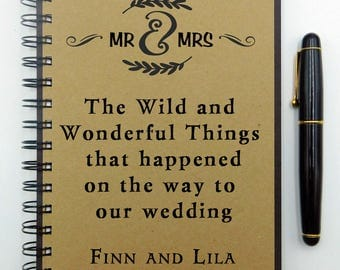 Custom Notebook, Wedding Notebook, Personalized, Custom Engagement Journal, Bridal Shower Gift