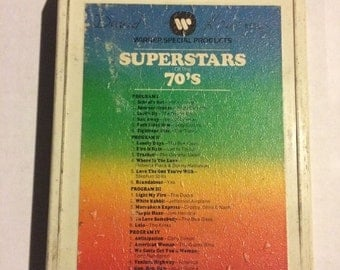 Superstars of the 70's 8 track tape