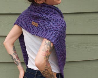 Handmade Knit Spring Poncho