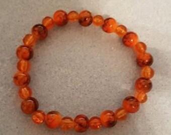SALE - Two Tone Orange Bracelet